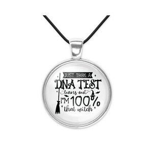 DNA Test 100% Witch Halloween Pendant Necklace New